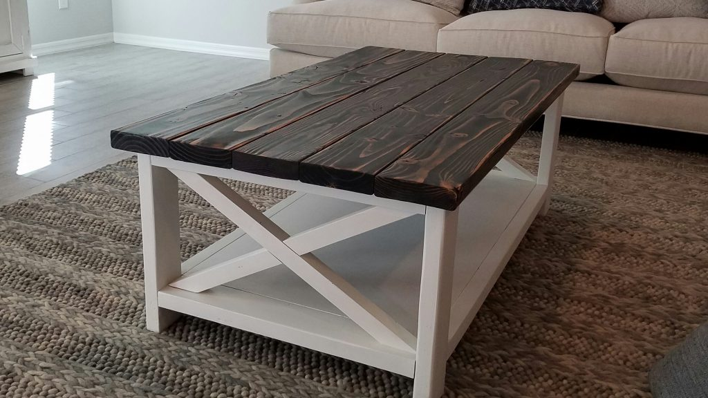 2 Tone Rustic Coffee Table Tripledigit Wood Design