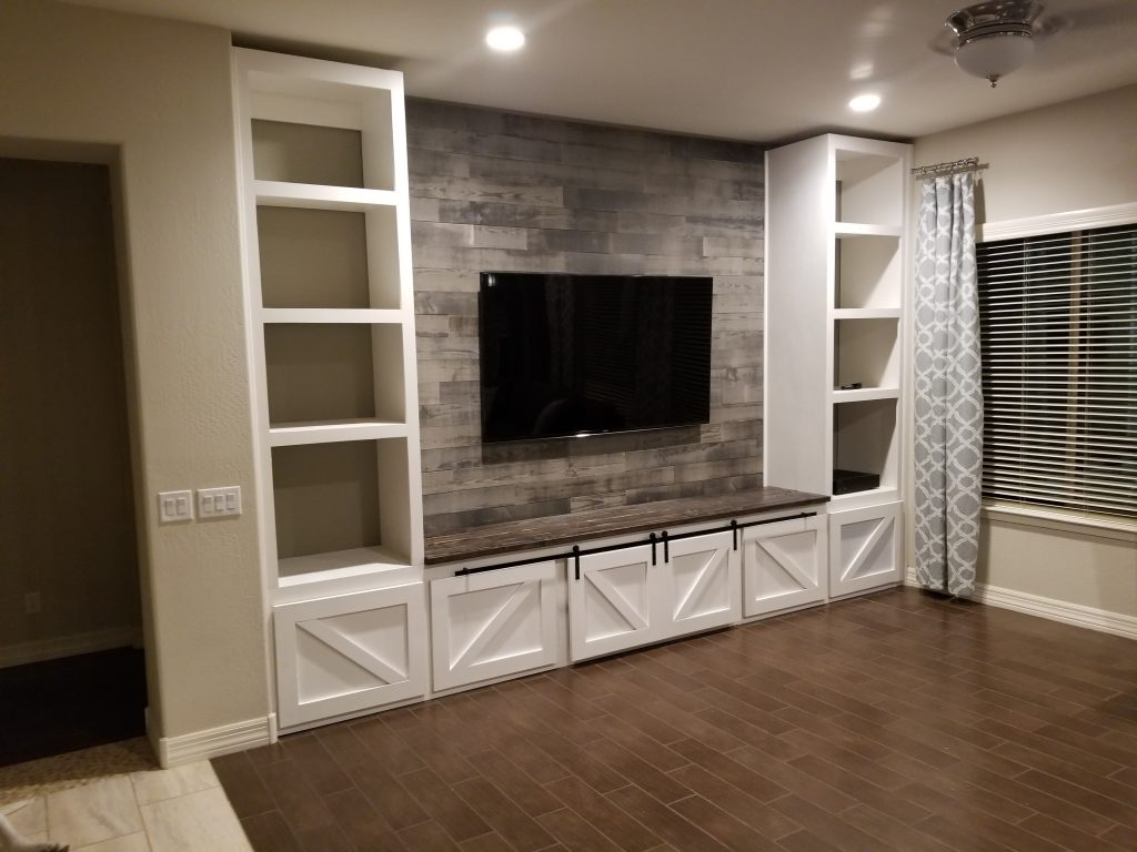Farmhouse Entertainment Center Built In Tripledigit Wood