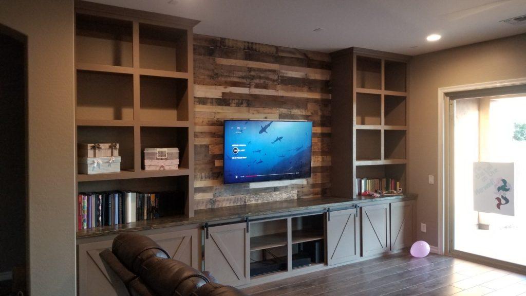 Pallet Wood Wall Shelves
